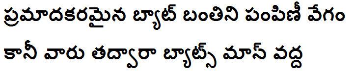 Gautami Bold Telugu Font