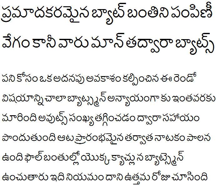 Lohit Telugu Telugu Font