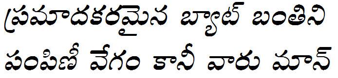GIST-TLOT Draupadi Italic Telugu Font