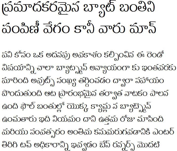GIST-TLOT Menaka Normal Telugu Font