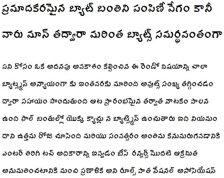 Ravi Prakash Telugu Font